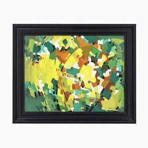 Polychrome Abstrakte Gouache von Marcel Mulot, 1965