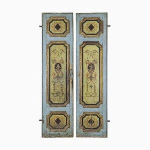 Hängende Holztüren mit Grotesken, 18. Jahrhundert, 2er Set