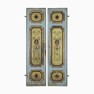 Pageantry Wood Doors with Grotesques, 18th Century, Set of 2