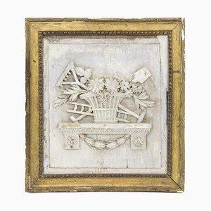 Lackierte Holzplatte im Louis XVI Stil, 19. Jh