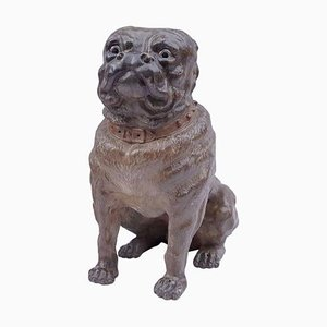 19th Century English Polychrome Ceramic Bulldog