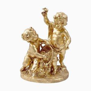 Vergoldete Terrakotta Trauben Ernte von Atelier Prométhée