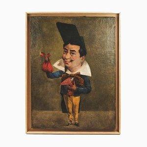 Caricature Huile sur Toile 19ème Siècle par Armand Désiré Gautier