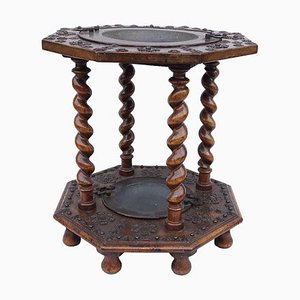 17th Century Spanish Walnut and Metal Brazier