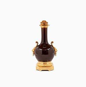 Rote Sang-de-boeuf Porzellan Lampe, 1880er