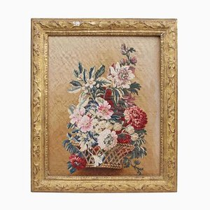 19th Century Aubusson Tapestry Representing A Framed Still Life
