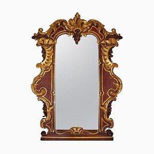 Großer Antiker Rokoko Stil Österreichischer Spiegel, 1900er