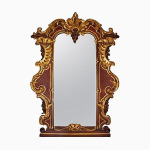 Large Antique Rococo Style Austrian Mirror, 1900s