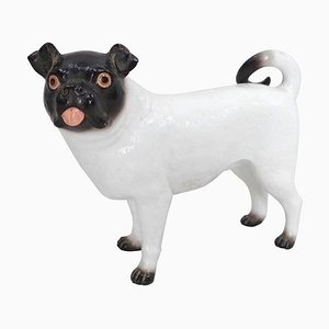 Ceramic French Bulldog Sculpture, 1950s