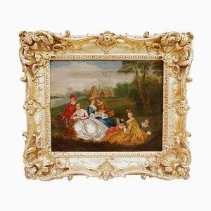 Romantisches Szenengemälde Öl auf Leinen von Nicolas Lancret
