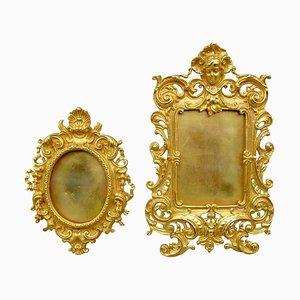 Vergoldete Bronze Rahmen im Louis Xv Stil, 19. Jh., 2er Set