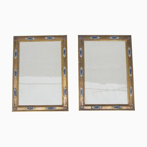 Napoleon Iii Cloisonné Rahmen aus Emaille und vergoldeter Bronze, 2er Set