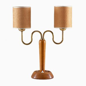Mid-Century Swedish Table Lamp from IWO, 1940s