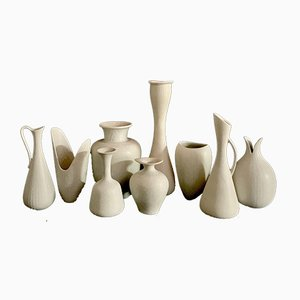 Vases by Gunnar Nylund for Rörstrand, Sweden, 1950s, Set of 9