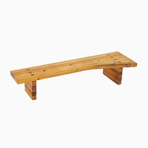 Swedish Bench in Pine by Sven Larsson, 1970s