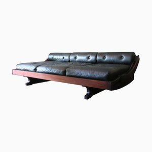 Italian Model GS195 Rosewood and Leather Daybed by Gianni Songia for Luigi Sormani, 1960s