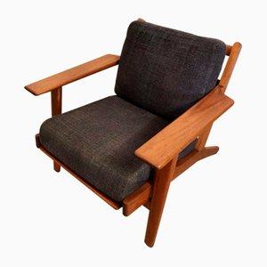 Mid-Century Modell GE290 Stuhl aus Teak von HJ Wegner für Getama