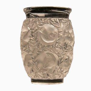 Frosten Vase aus Mundgeblasenem Glas in Bagatelle-Optik von René Lalique für Lalique, 1950er