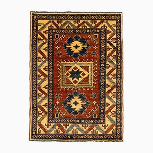 Afghan Medium Sized Blue, Red, and Beige Kazak Tribal Rug