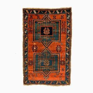 Vintage Kazak Fachralo Teppich in Grün, Blau & Rost, 1930er