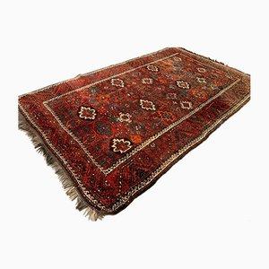 Tapis Tribal Vintage Rouge, Noir et Bleu, Afghanistan