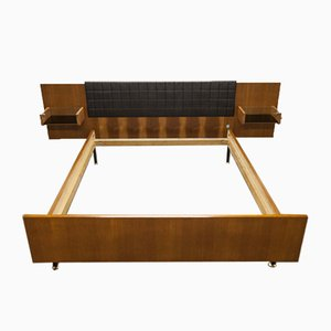 Teak and Faux Ceramic Bed, 1960s