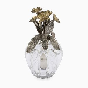 Victorian Solid Silver Gilt Scent Bottle Atomiser by Edward H Stockwell, London, 1884