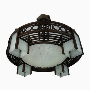 Art Deco Deckenlampe von David Guéron, 1920er