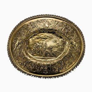 Englische Serviertafel aus massivem Silber von Robert Samuel Hunt, 1830er