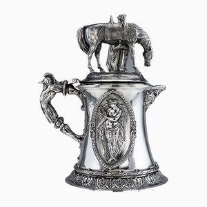 Großer viktorianischer englischer Figuraler Kronleuchter aus massivem Silber von Charles Frederick Hancock, 1860er