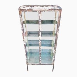 Antique Glass Medical Display Cabinet