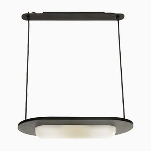 Postmodern Italian Black Ceiling Lamp, 1980s