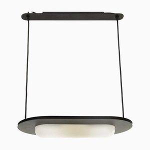 Postmoderne schwarze italienische Deckenlampe, 1980er