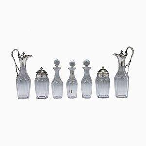 Englisches Silbermessing-Set aus viktorianischem englischem Silber von John Hunt & Robert Roskell, 8er Set