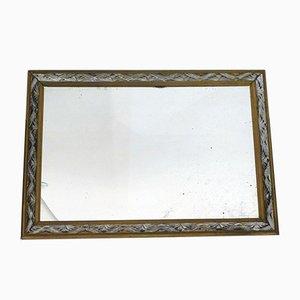 Vintage Art Deco Silver Wood Mirror