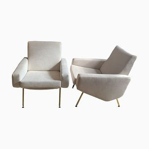 Mid-Century Troika Armchairs by Paul Geoffroy, Set of 2