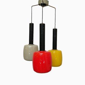 Farbige italienische Murano Glas Deckenlampe, 1960er