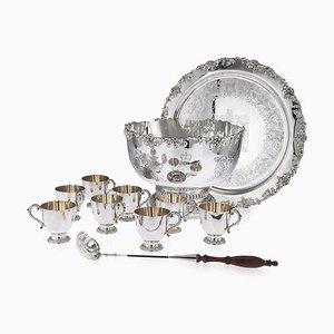 Elizabeth II Punsch-Set aus solidem Silber von Garrard & Co, 1972, 11er Set
