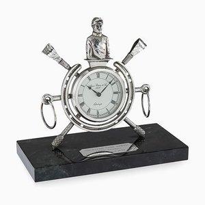 Horloge de Courses de Chevaux en Argent Massif, Edinburgh, 1983