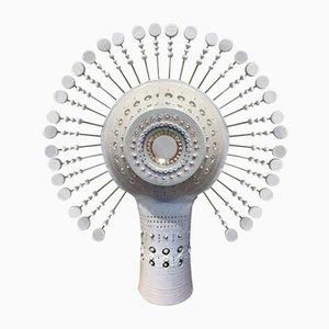 Keramik Sun Tischlampe von Georges Pelletier