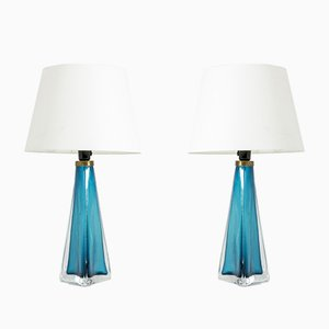 Glass Table Lamps by Carl Fagerlund for Orrefors, 1960s, Set of 2