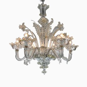 Blown Murano Glass 6-Light Chandelier, 1930s