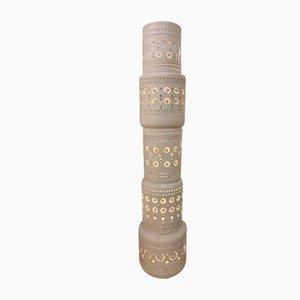 Keramik Totem Tischlampe von Georges Pelletier
