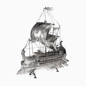 Navire SIirver Trireme Persan, Espagne, 1920s