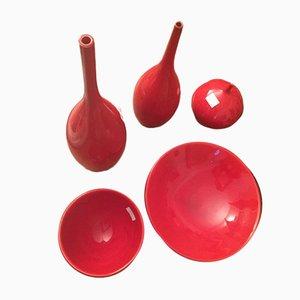 Keramik Vasen von Peter Collis für Peter Collis Keramik Studio, 1990er, 5er Set