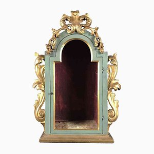 Antique Lacquered and Gilded Case with Door