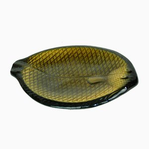 French Yellow Fish-Shape Platter, 1970s