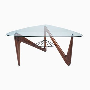 French Tripod Coffee Table by Louis Sognot, 1950s