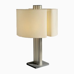French Strigam Table Lamp by Vitrac Jean-Pierre for Verre et Lumière, 1983