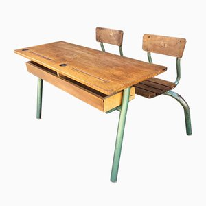 Mid-Century School Desk, 1950s